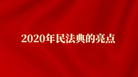 2020年民法典的亮点有哪些