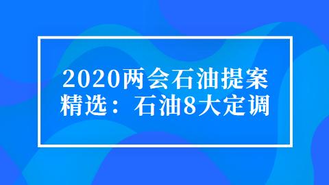 2020两会石油提案精选:石油8大定调