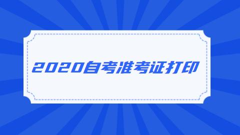江苏省2020年自考准考证如何打印